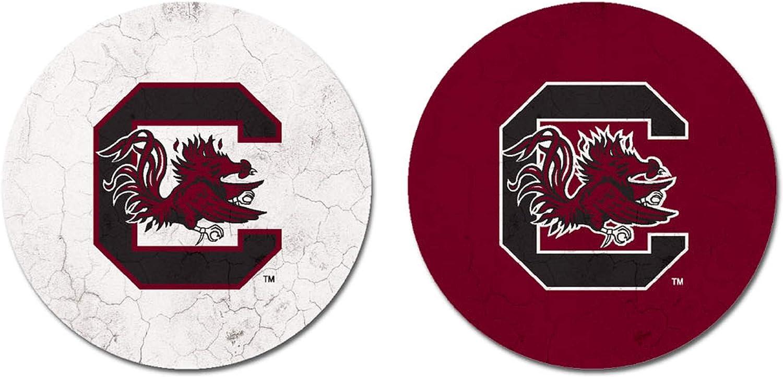 One Size Sandstone NCAA Legacy South Carolina Fighting Gamecocks Thirsty Car Coaster 2-Pack
