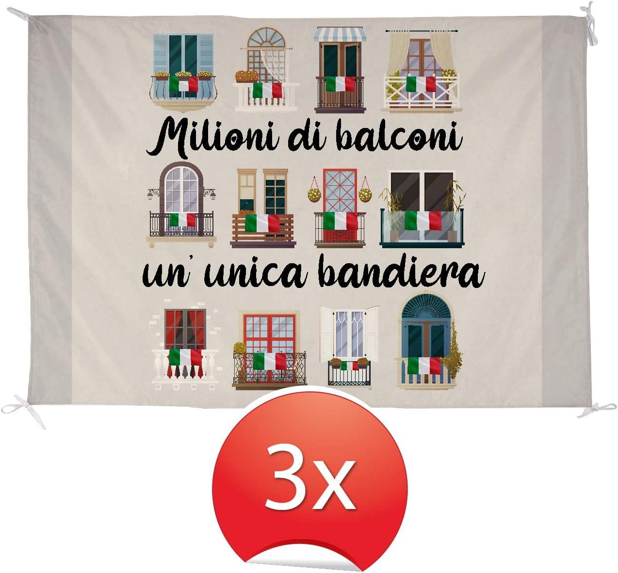 My Custom Style Bandiera 50x70#andr/à Tutto Bene# Poliestere Leggero