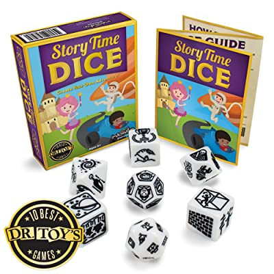 Imagination Generation Story Time Dice, Create Your Own Adventure Storytelling Game – Includes 7 Polyhedral Dice & 4 Suggested Ways to Play, Beginner Role-Playing Game: Toys & Games