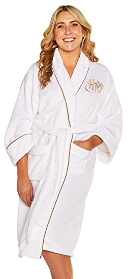 Groovy UK-s Womens White Harry Potter Golden Snitch Fleece Dressing Gown   Amazon.co.uk  Clothing a0c355da4
