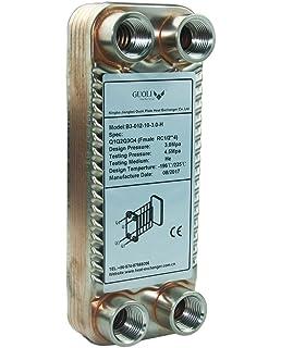 BRASED - Juego de 10 platos intercambiadores de calor y chiller de hierbas para calentador de