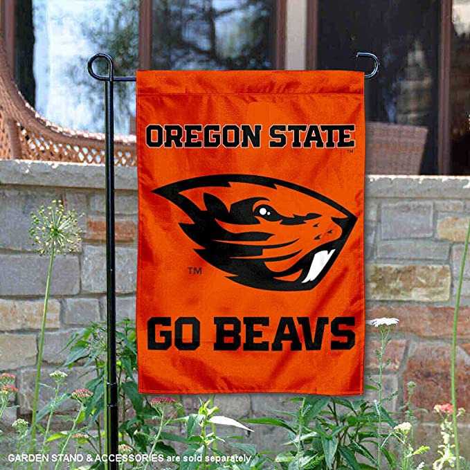 In the Breeze  Oregon State University Beaver Nation Garden Flag with Tails