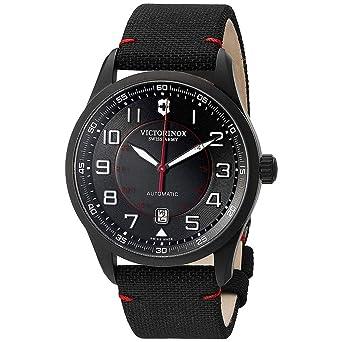 Victorinox Swiss Army - AirBoss Mechanical Black Edition - Reloj de Pulsera analógico automático para Hombre, con Correa de Tela, 241720: Amazon.es: Relojes