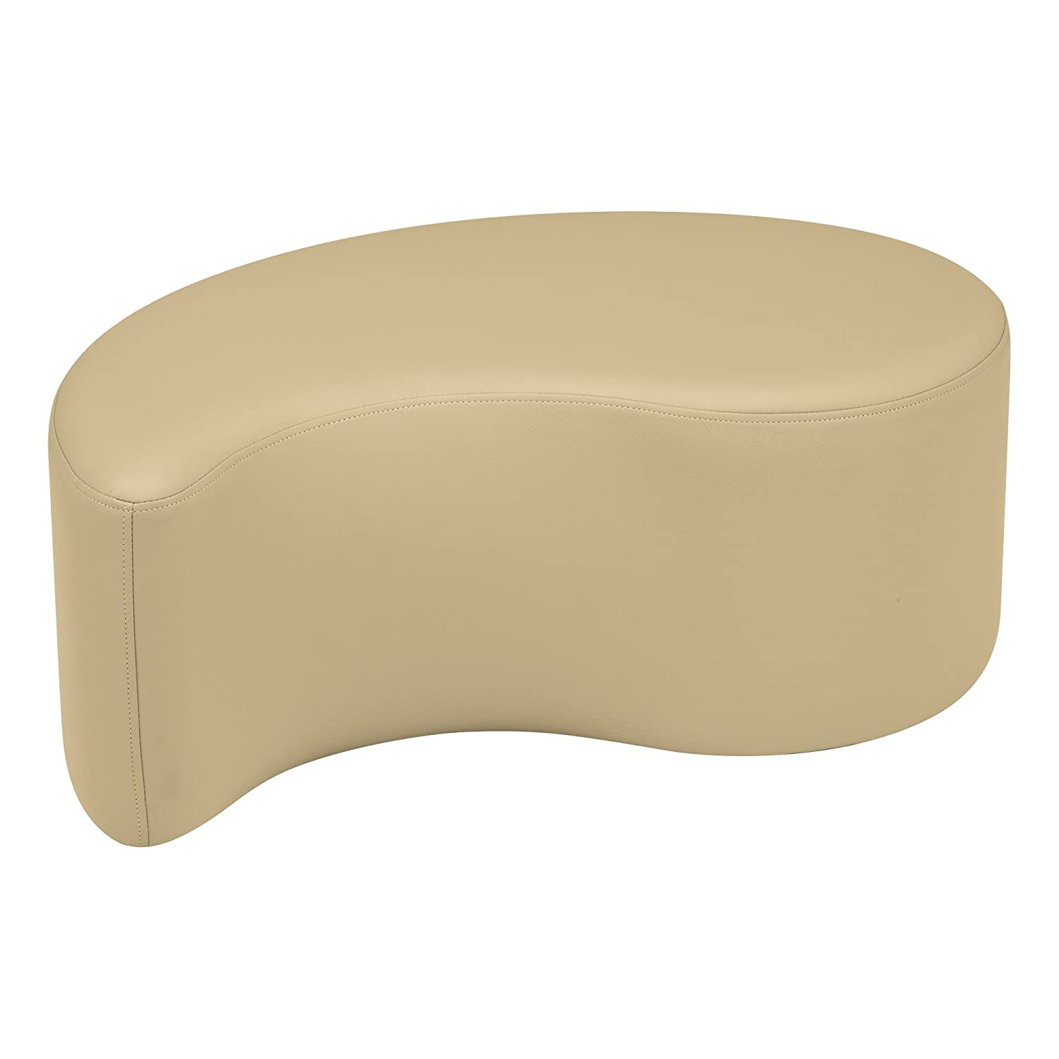 Sand 12  Sprogs Vinyl Soft Seating Teardrop Stool Bench, 18  H, bluee, SPG-1002BL-A
