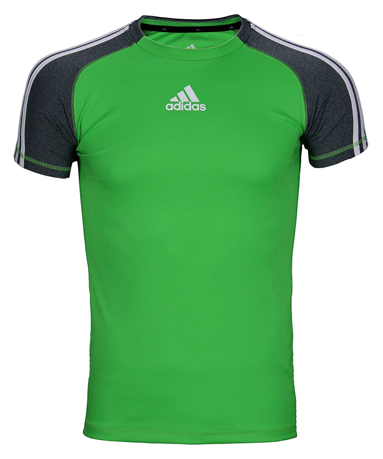 reputable site f83f4 1c15c Top1  Adidas Big Boys Athletic Performance Climalite 3-Stripe Short Sleeve T -Shirt
