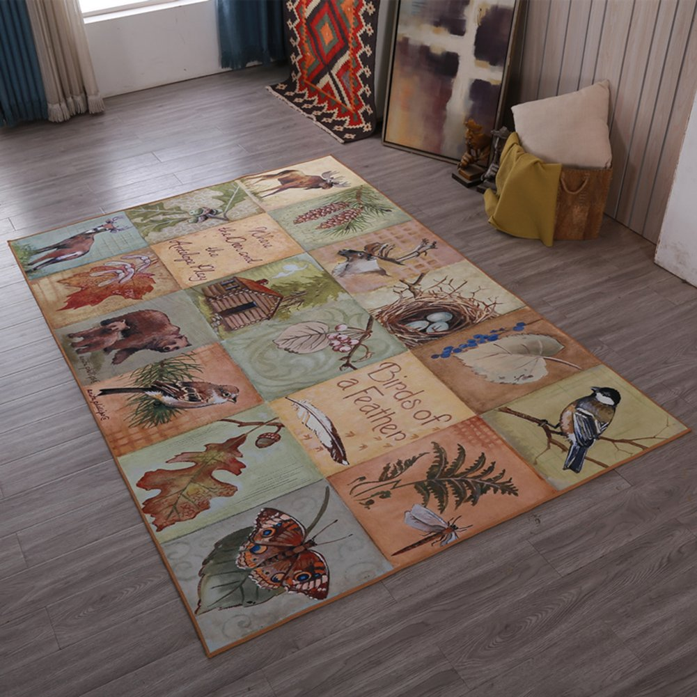 Retro Home Rugs National Flavor - MeMoreCool Eleven Patterns No Fading Anti-slipping Beautiful Patterns Living Room Tea Table Carpets 79 X 118 Inch