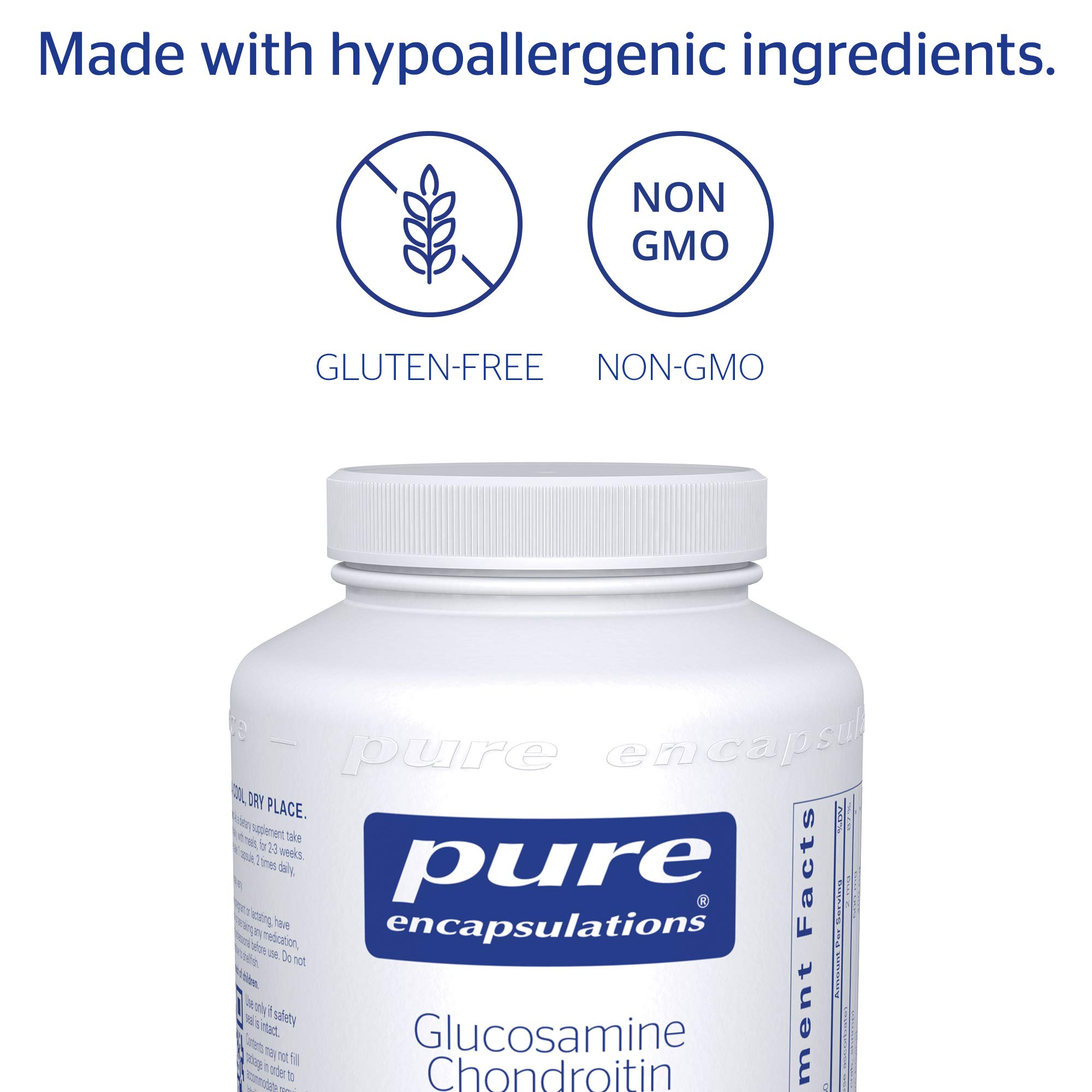 Pure Encapsulations - Glucosamine + Chondroitin with Manganese - Enhanced Cartilage Synthesis and Antioxidant Support* - 360 Capsules by Pure Encapsulations (Image #4)