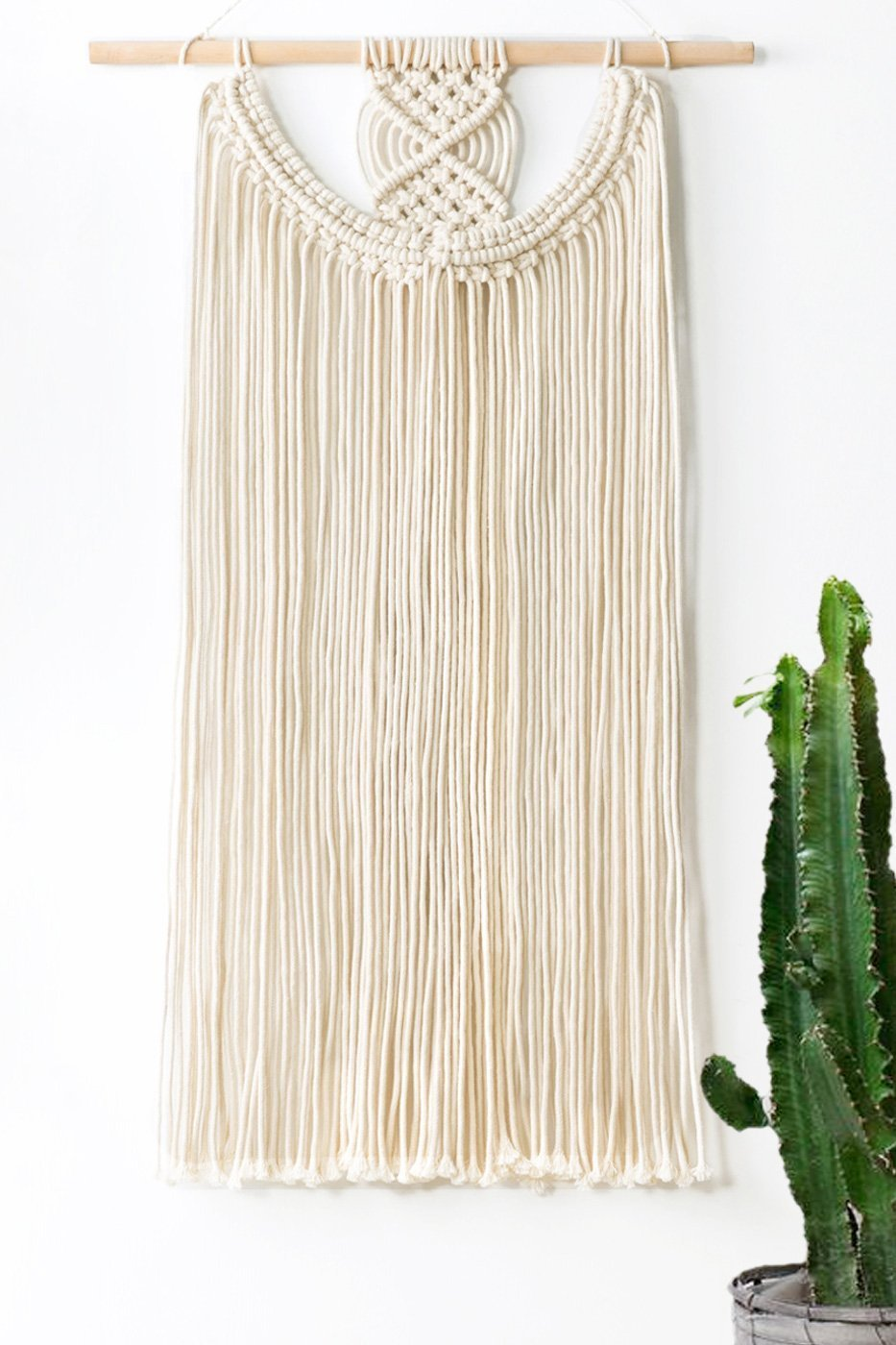 Mkono Macrame Wall Hanging Fringe Woven Wall Decor