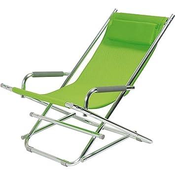 Toile La Avec Textilène Aluminium Vert H80 3018v Chair Longue De Accoudoirs Et 28 Tête X Jardin Rocking Pliable Chaise Coussin Appui dQCWExBroe