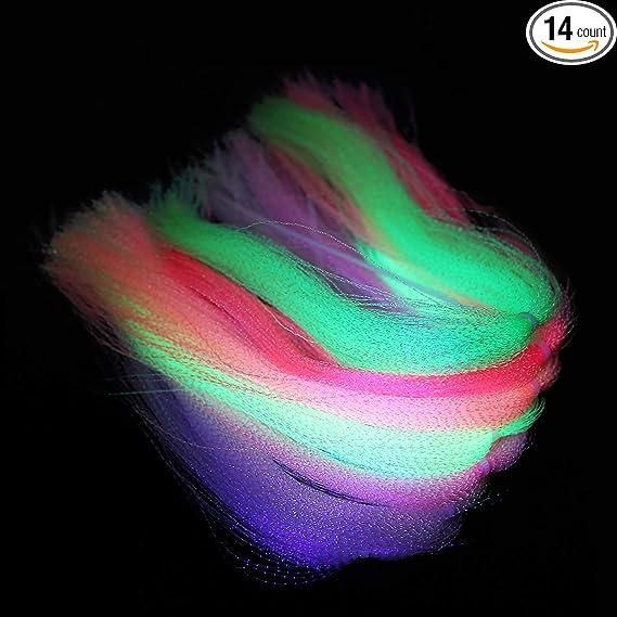 Arts and Craft Supplies ZUCKER\u00ae Holographic Flashabou Metallic Mylar Streamer Glimmer Tinsel Fly Tying Fly Fishing Jewelry Making