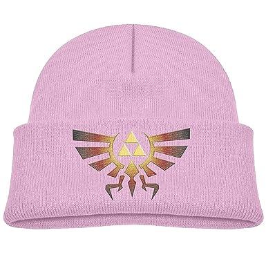 36c32216b24 UKCGG Kids Winter Knit Beanie Skull Cap Cuff Beanie Hat - Zelda Triforce