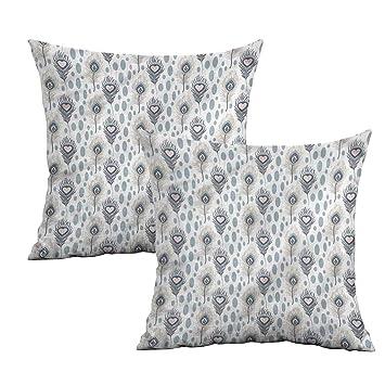 Amazon.com: Khaki Home Funda de almohada cuadrada de pavo ...