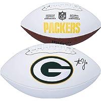 $169 » Aaron Jones Green Bay Packers Autographed Wilson White Panel Football - Autographed Footballs