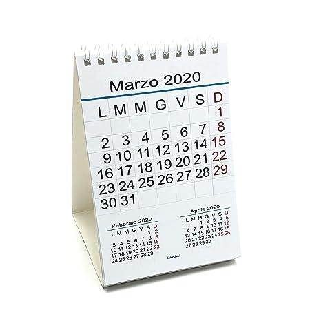 Calendario Iva 2020.Calendario 2020 Da Tavolo 10x15 Cm 12 Mesi Festivita Italiane