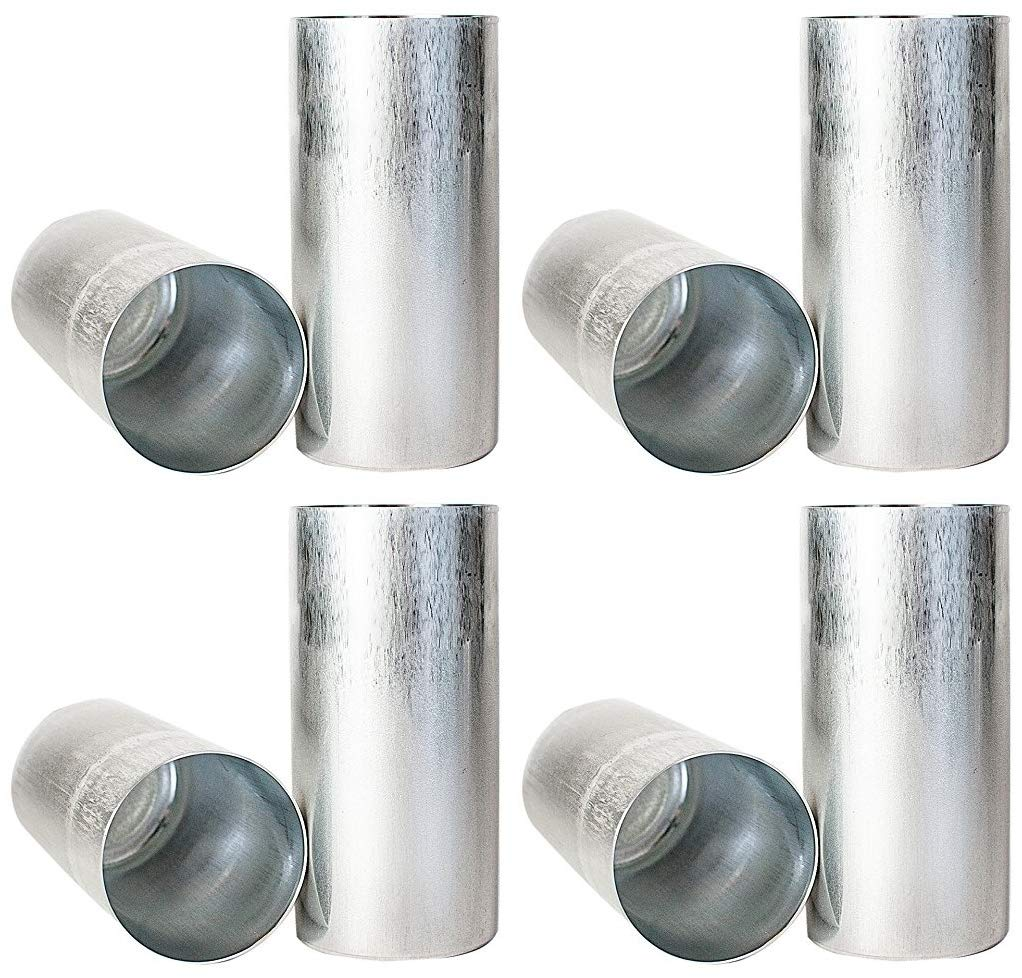 Candlewic 50216 2Pk of 3 X 6.5 Inch Round Aluminum One Piece Candle Molds (Fоur Расk) by Candlewic (Image #1)