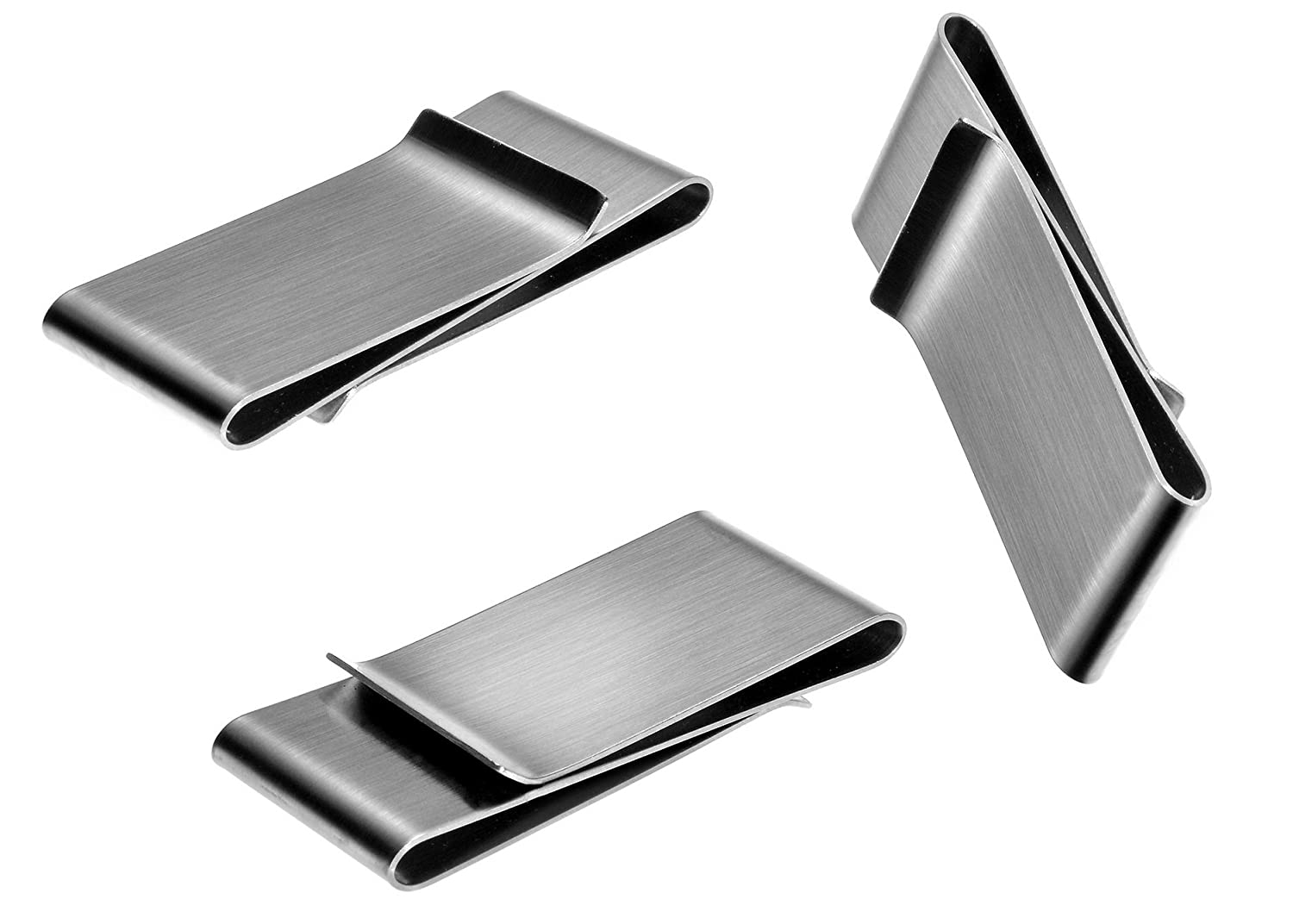 Money Clips 20 Pack, Stainless Steel Blanks for Engraving or Personalize, Bulk Wholesale Bulk Wholesale (Double Clip)