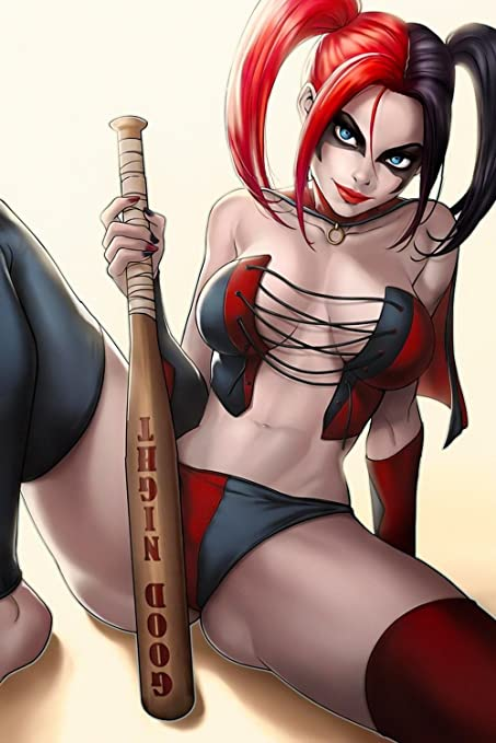 The harley quinn naked game version opinion, actual