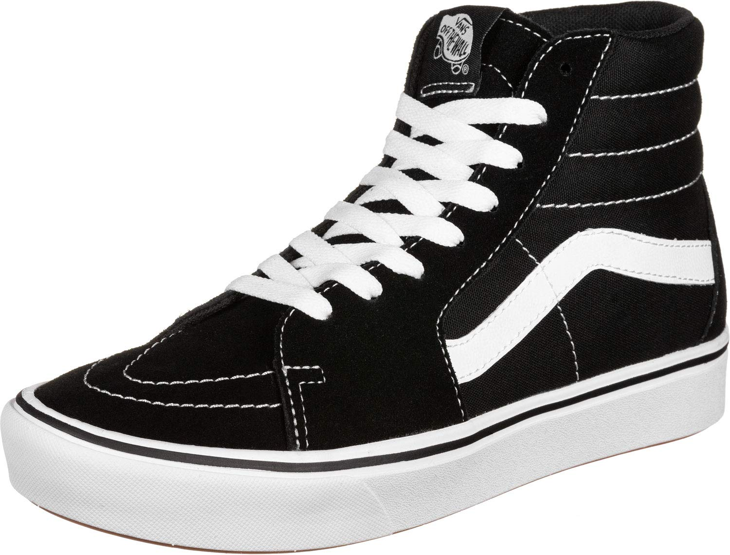 469eec5ce8 Amazon.com: Vans Comfycush Sk8-Hi Black/White Skate/Casual (VN0A3WMBVNE):  Sports & Outdoors