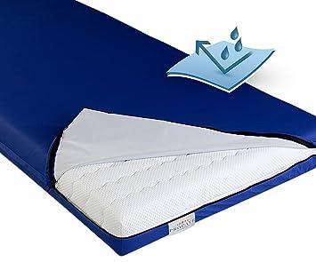 Outdoor matratzenbezug  Amazon.de: PROCAVE wasserdichter Matratzenbezug in blau ...