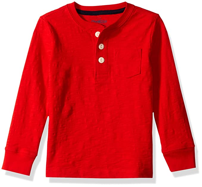 48ba7ee98 Amazon.com: OshKosh B'Gosh Boys' Pocket Henley Tees: Clothing