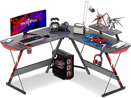 MOTPK L Shaped Gaming Desk 51″ L Shaped Desk