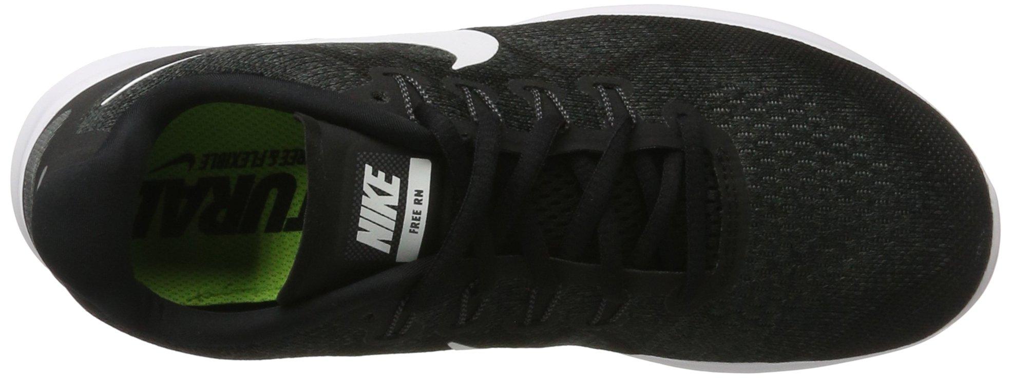 Nike Men's Free RN 2017 Running Shoe Black/White/Dark Grey/Anthracite Size 7.5 M US by Nike (Image #7)
