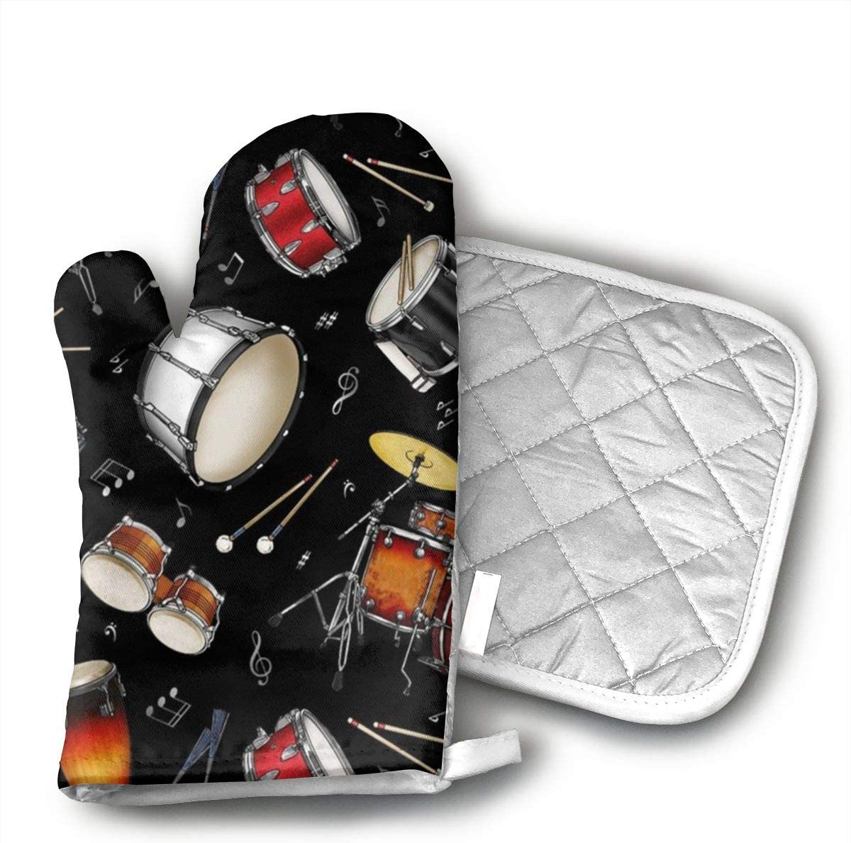 Wiqo9 Rock Drum Stand.jpg Oven Mitts and Pot Holders Kitchen Mitten Cooking Gloves,Cooking, Baking, BBQ.