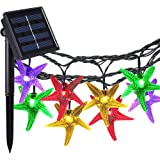 Solar Outdoor String Lights, COOLEAD® 30LED 20ft Starfish Solar Powered String Lights Christmas Decorative Lighting for Indoor Outdoor Garden Home Party Wedding Holiday Decorations Multi Color