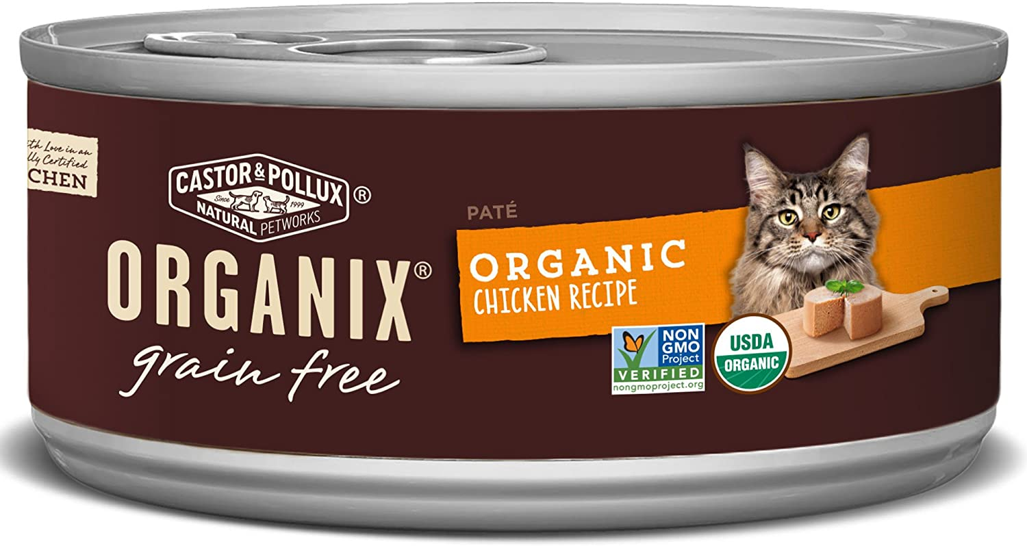 Castor & Pollux Organix Grain Free Organic Chicken Recipe (24) 3oz cans