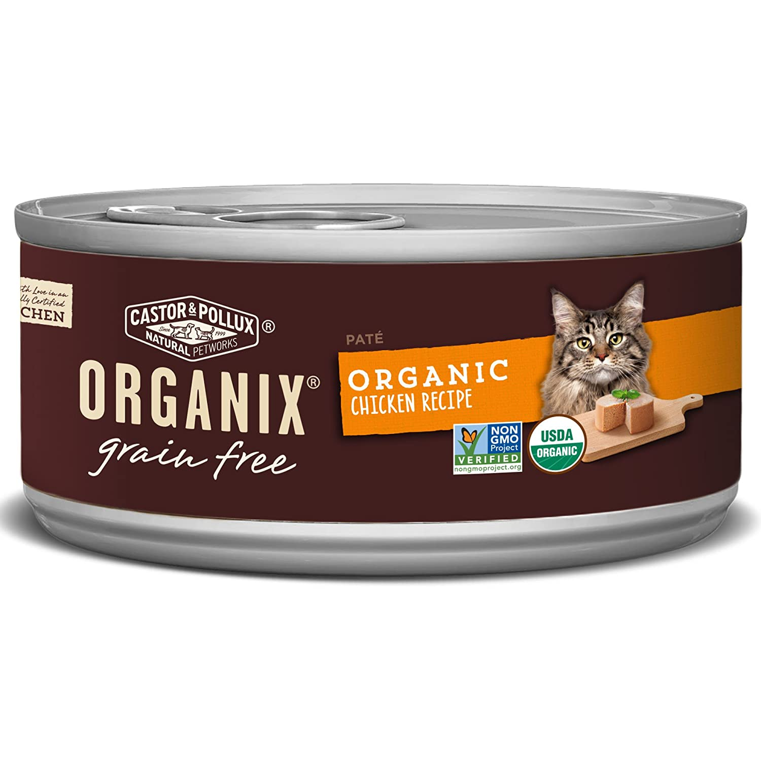 Organix Organic Canned Cat Food Chicken Pate