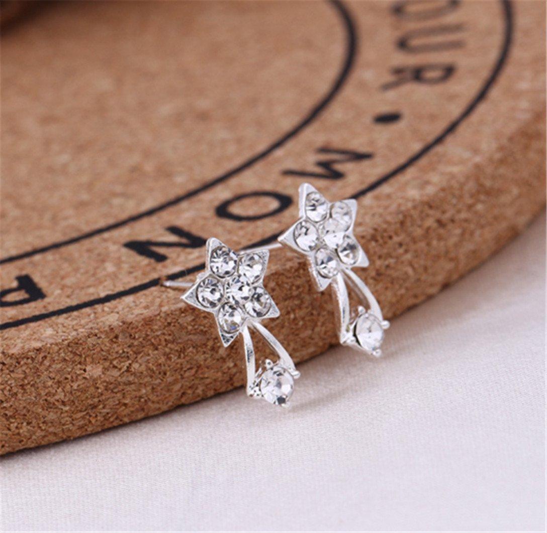 Women Jewelry Creative Earrings New Pearl Diamond Stud Earrings