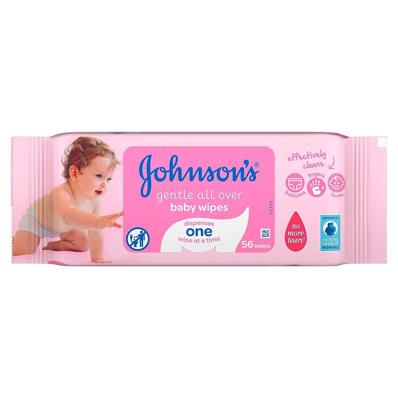 Suaves en todo Toallitas para bebés de Johnson - Paquete de 12, Total 672 Toallitas: Amazon.es: Salud y cuidado personal