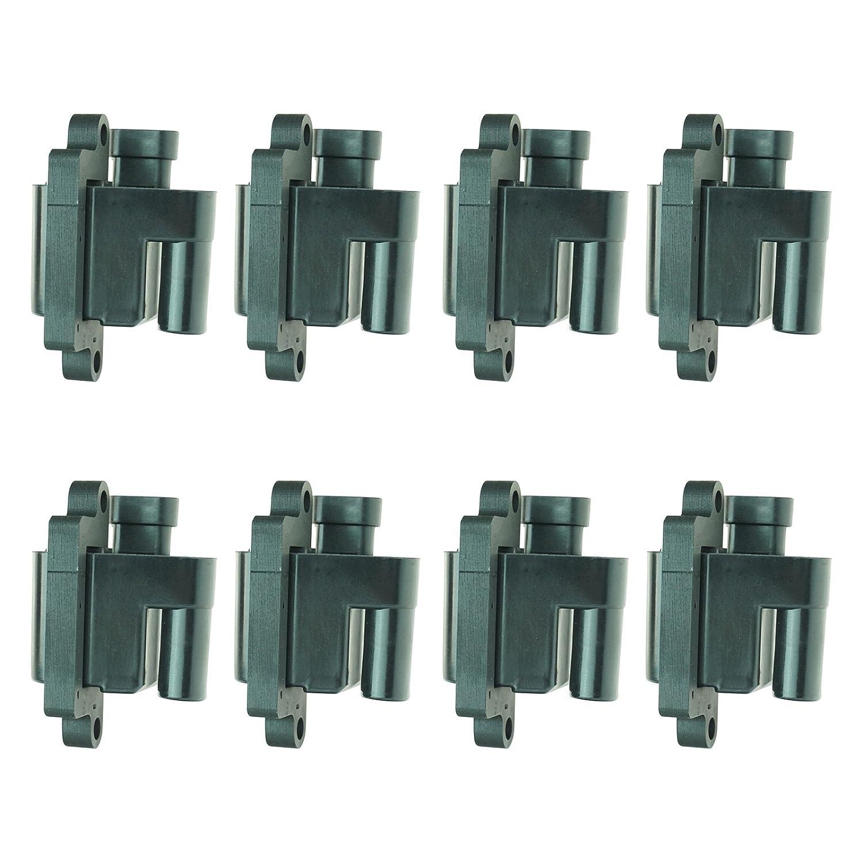 Square Ignition Coil 8 Piece Kit Set for Chevy Silverado GMC Pickup Truck V8
