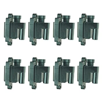 Square Ignition Coil 8 Piece Kit Set for Chevy Silverado GMC Pickup on