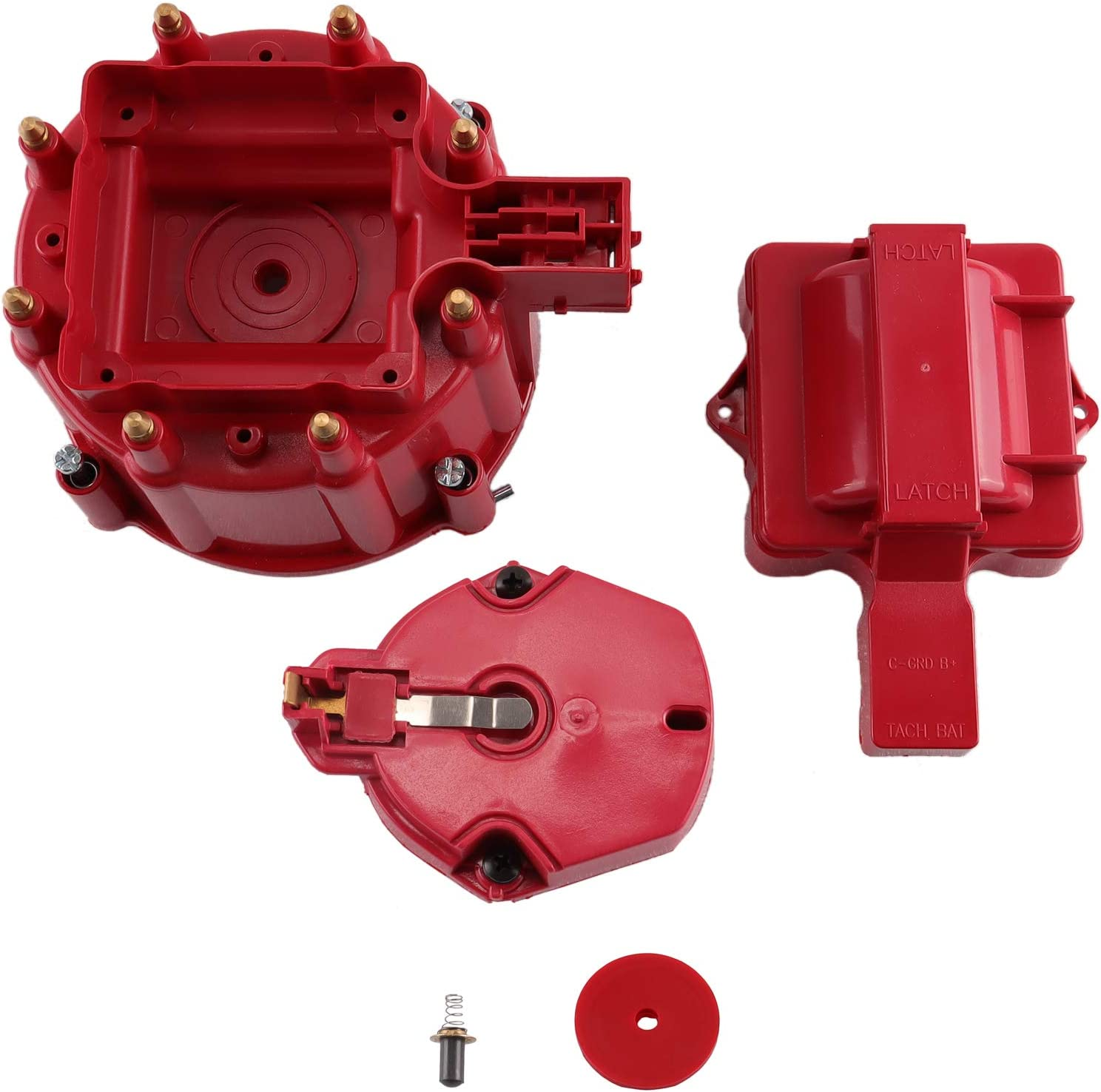 Amazon Com Mas Performance Replacement Fits Red Male Hei Distributor Cap Rotor For Chevy Gm Sbc Bbc 305 350 454 Automotive