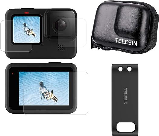 Telesin 3 In 1 Zubehör Set Für Gopro Hero 9 Schwarz 1 Kamera