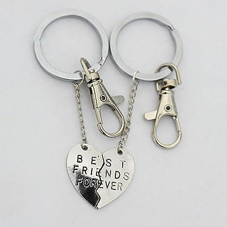 Set de 2, llavero, dos piezas de corazón partido, BFF ...