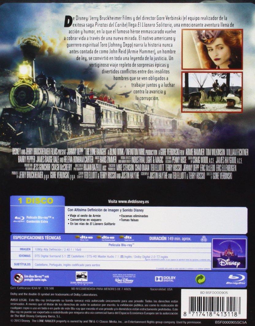 Amazon.com: El Llanero Solitario - Edición Caja Metálica (Blu-Ray) (Import Movie) (European Format - Zone B2) (2013) Johnn: Movies & TV