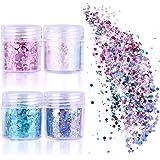 Tenva Glitzer 12 Farben Chunky Glitter Für Gesicht Nägel Augen