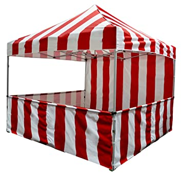 Impact Canopy 10x10 Striped Canopy Tent Impact Canopies Vendor Booth for Carnival Popcorn and Cotton Candy  sc 1 st  Amazon.com & Amazon.com : Impact Canopy 10x10 Striped Canopy Tent Impact ...