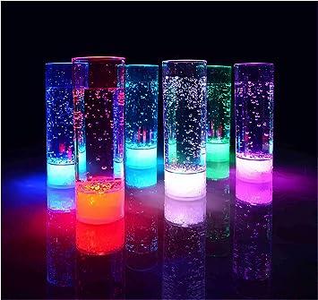 Vasos highball vaso de tubo LED LED retroiluminada de cristal del partido de vidrio de 400 ml de la marca PRECORN: Amazon.es: Electrónica