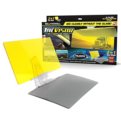 Bell + Howell TACVISOR for Day and Night, Anti-Glare Car Visor, UV-Filtering/Protection As Seen On TV: Automotive