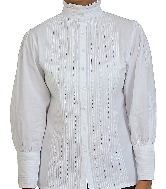 Cotton Lane Cotton Victorian Edwardian Vintage Reproduction Blouse. Sizes UK 8 to 32.