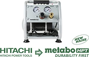 Metabo HPT EC28M Ultra-Quiet Portable Air Compressor, 59 dB, Oil-Free Pump, 1-Gallon Tank Capacity, Universal Quick Coupler, Steel Roll Cage w/Rubber Grip, Compact and Lightweight, 1-Year Warranty