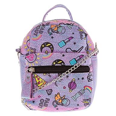 1f1c52eb0ec0 Claire s Girl s Unicorn PWR Mini Backpack Crossbody Bag - Purple ...