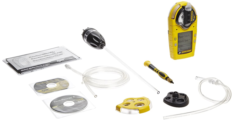 BW tecnologías m5pid-00q0-a-p-d-y-n-00 GasAlertMicro 5 PID Detector de gas con pilas alcalinas y bomba, COV, amarillo Vivienda: Amazon.es: Amazon.es