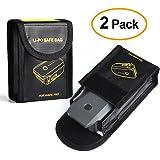 Kuuqa 2 Pcs Fireproof Explosion-proof Lipo Battery Safe Bag Lipo Battery Guard Safe Pouch Sack for DJI Mavic Pro Battery Storage (DJI Mavic Not Included)
