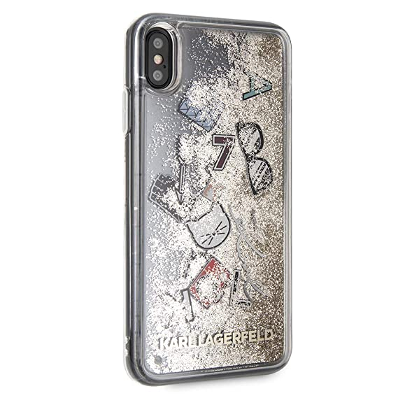 premium selection fbe41 09ecc Karl Lagerfeld iPhone Xs Max - by CG Mobile- Transparent Graphic/Quicksand  Glitter Hard Cell Phone Case | Easily Accessible Ports | Officially ...