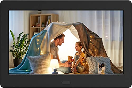 Digital Photo Frame with IPS Screen – Digital Picture Frame with 1080P Video, Music, Photo, Auto Rotate, Slide Show, Remote Control, Calendar, Time,1280×800 16 9,Support USB and SD Card 7 Inch Black