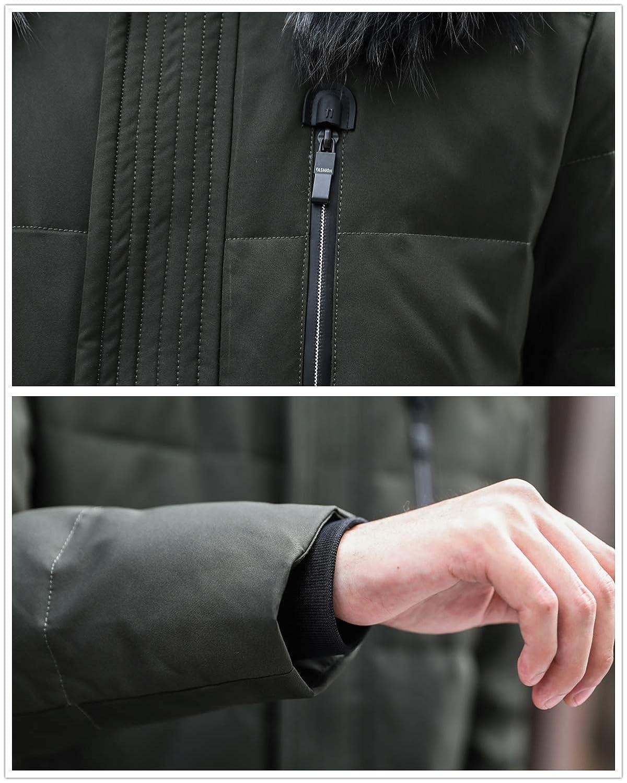 DHYZZ Homme Doudoune Parka Longue Duvet Manteau Blouson Capuche Matelassé Hiver épaissir Doudoune Veste Overcoat 98-vert